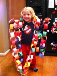 When we made the chain, it had 88 links- 88 days until Daddy comes home.
