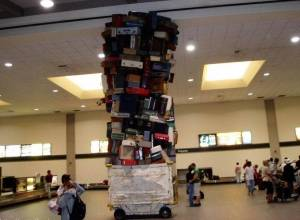 pile of luggage